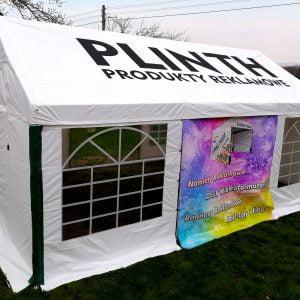 Namiot imprezowy z nadrukiem
